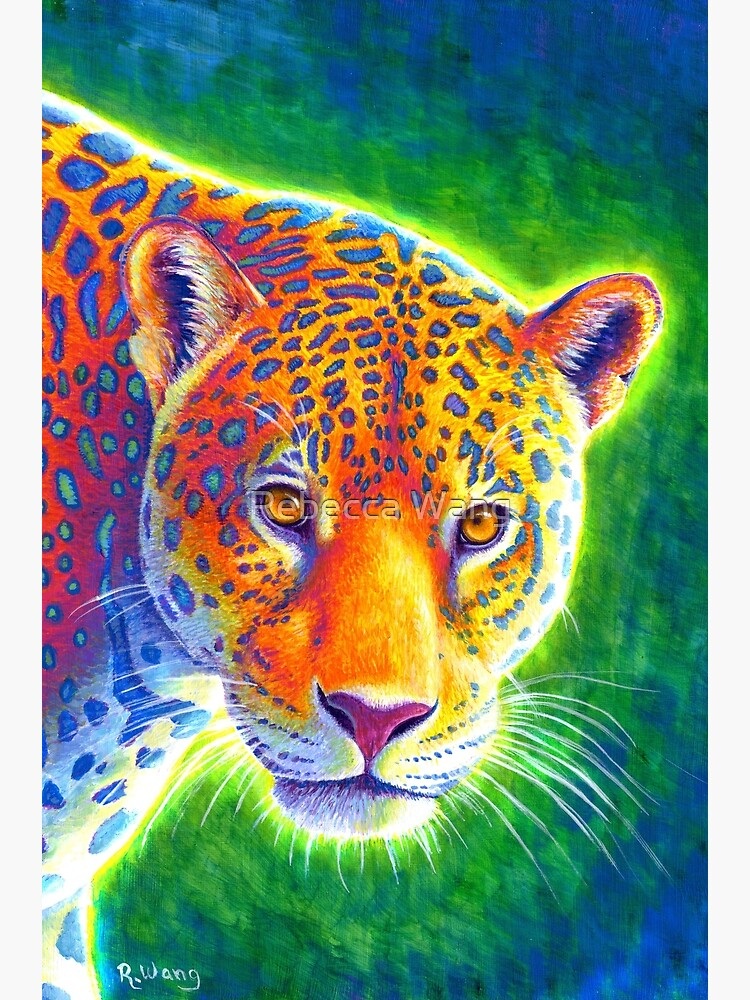 Light in the Rainforest - Psychedelic Rainbow Jaguar by lioncrusher