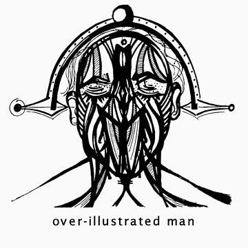 over illustrated man by bluefondue