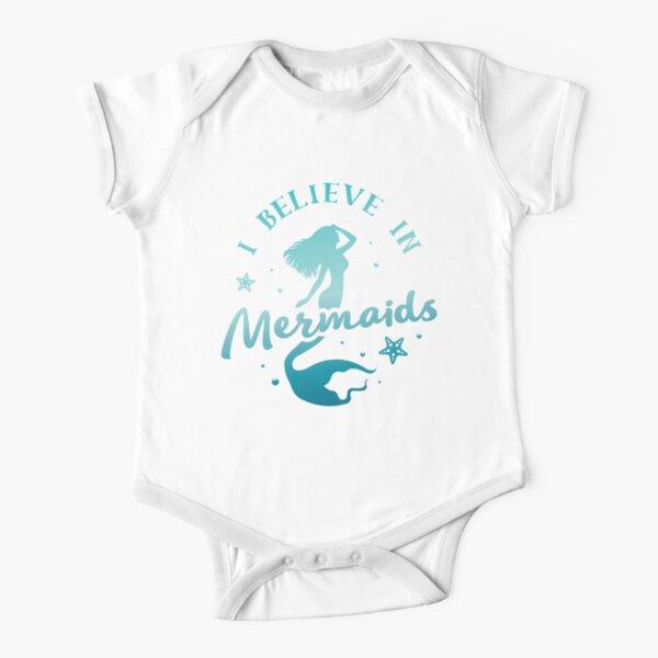 I Believe in Mermaids Short Sleeve Baby One-Piece
