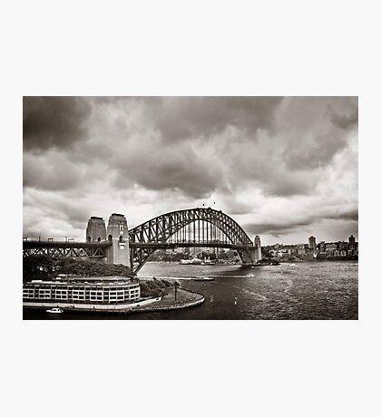 Sydney Harbour Bridge in B&W Photographic Print