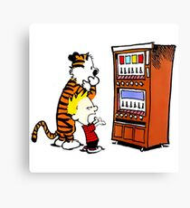 Calvin Hobbes Vending Machine Canvas Print