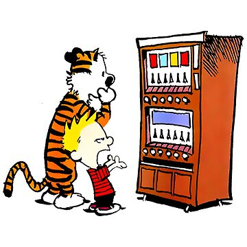 Calvin Hobbes Vending Machine by ElexElexan