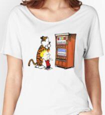 Calvin Hobbes Vending Machine Women's Relaxed Fit T-Shirt