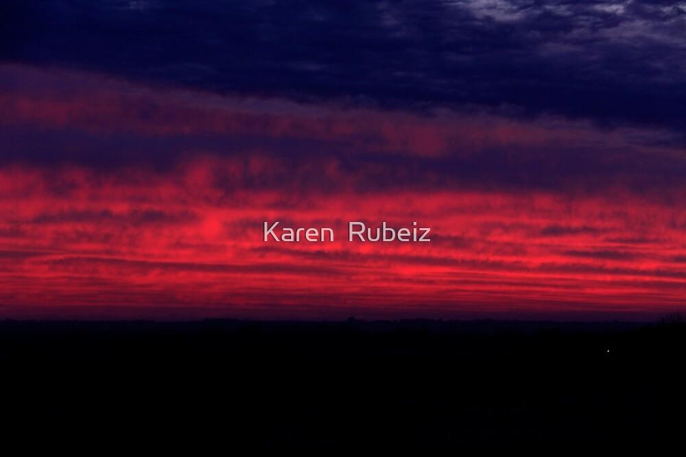 Dawn over the Valley by Karen  Rubeiz