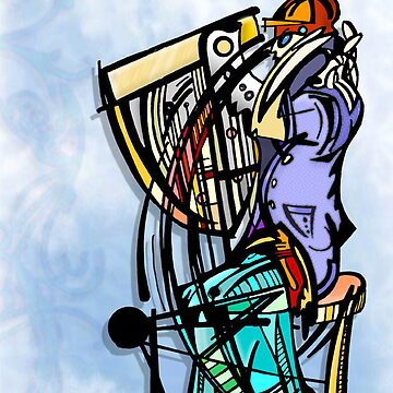 harp man by bluefondue