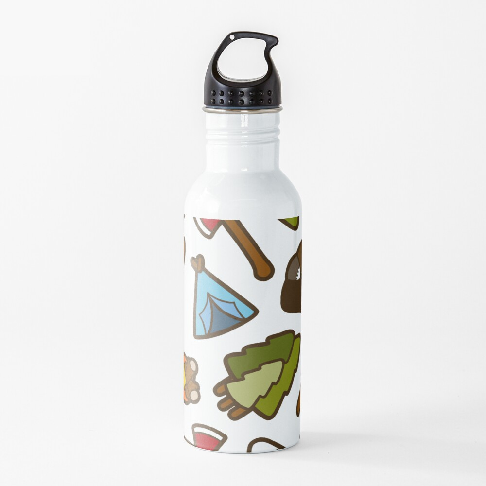Camping is Cool Pattern Water Bottle