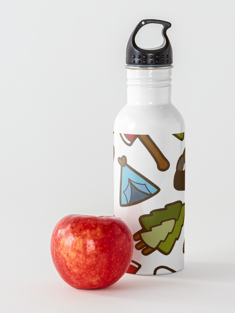Alternate view of Camping is Cool Pattern Water Bottle