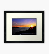 north head manly - lookout Framed Print