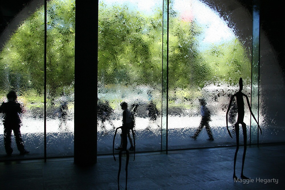 People, Sculptures and Water by Maggie Hegarty