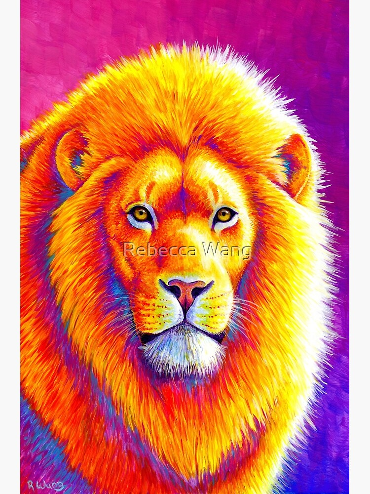 Sunset on the Savanna - Colorful African Lion by lioncrusher