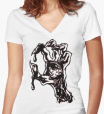 handed zombies Women's Fitted V-Neck T-Shirt