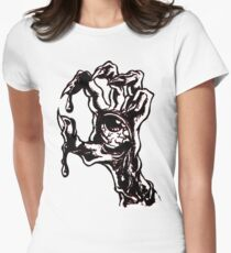 handed zombies Womens Fitted T-Shirt