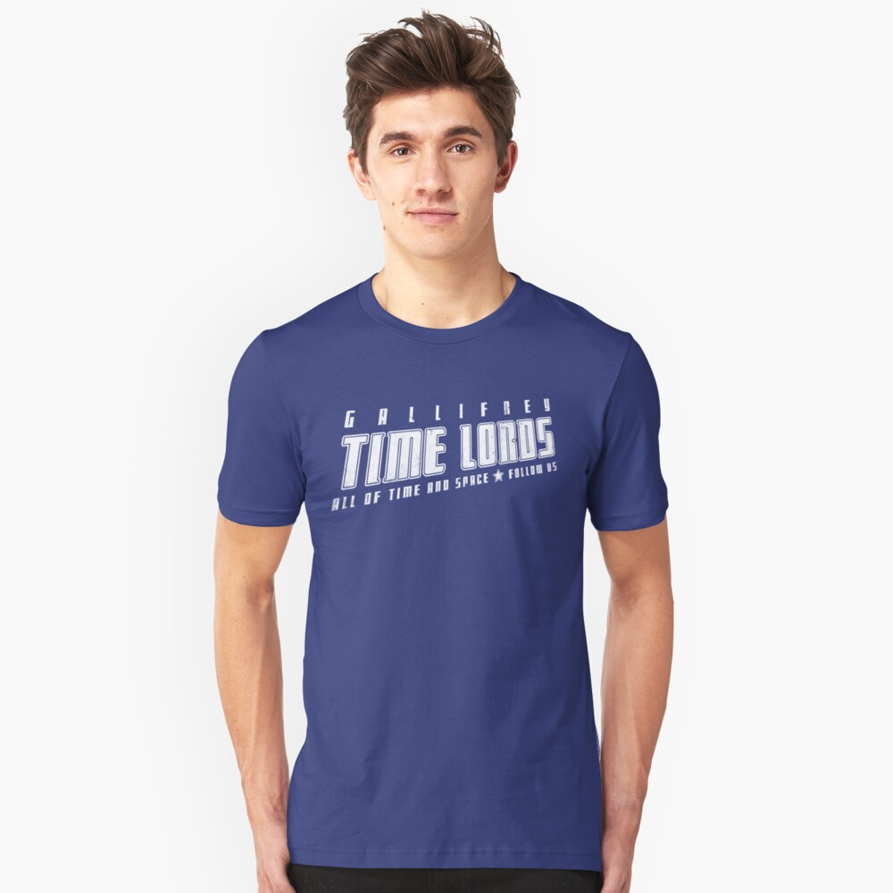 Gallifrey Time Lords (just words) Unisex T-Shirt Front