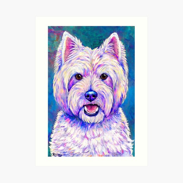Happiness - Colorful West Highland White Terrier Dog Art Print