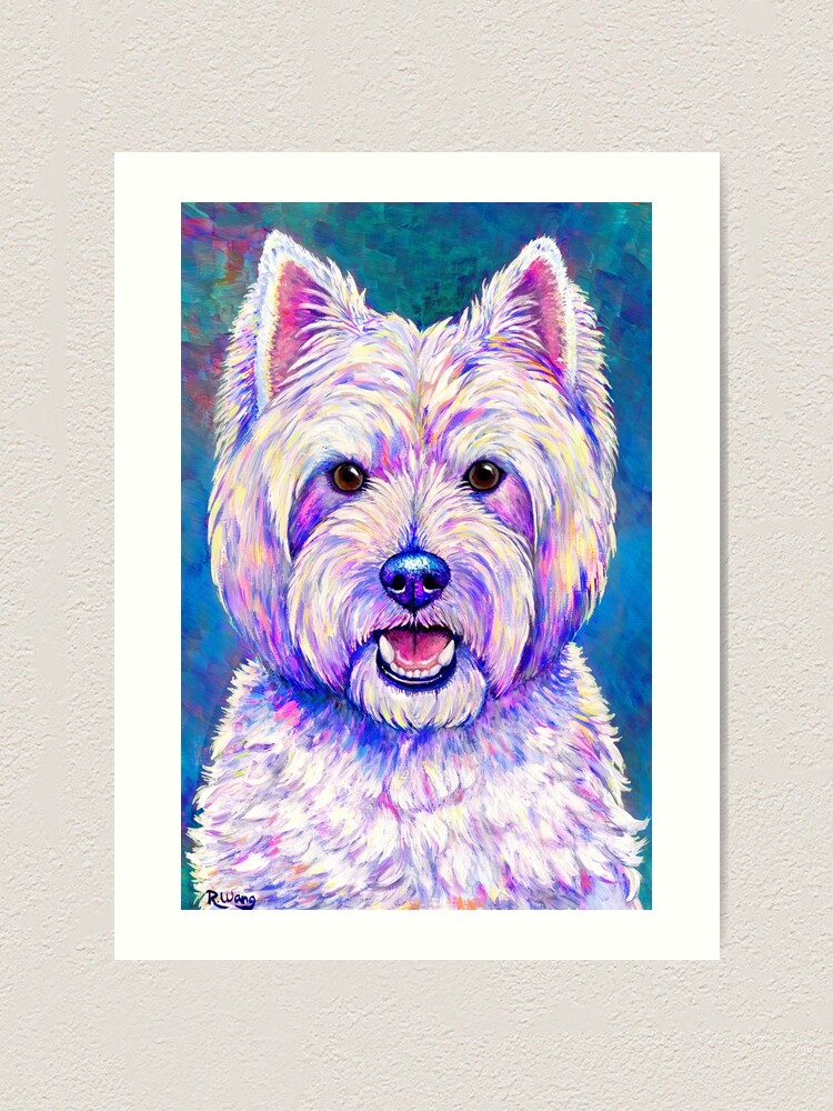 Alternate view of Happiness - Colorful West Highland White Terrier Dog Art Print