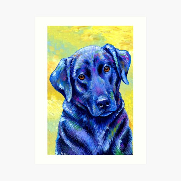 Loyal Companion -  Colorful Labrador Retriever Dog Art Print