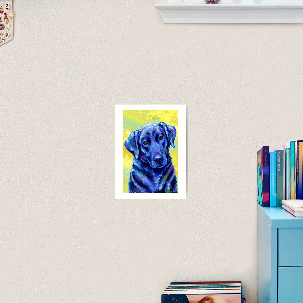 Loyal Companion -  Colorful Labrador Retriever Dog Art Print