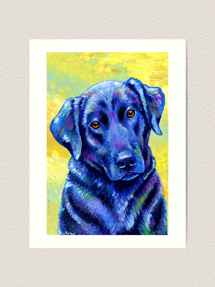 Alternate view of Loyal Companion -  Colorful Labrador Retriever Dog Art Print