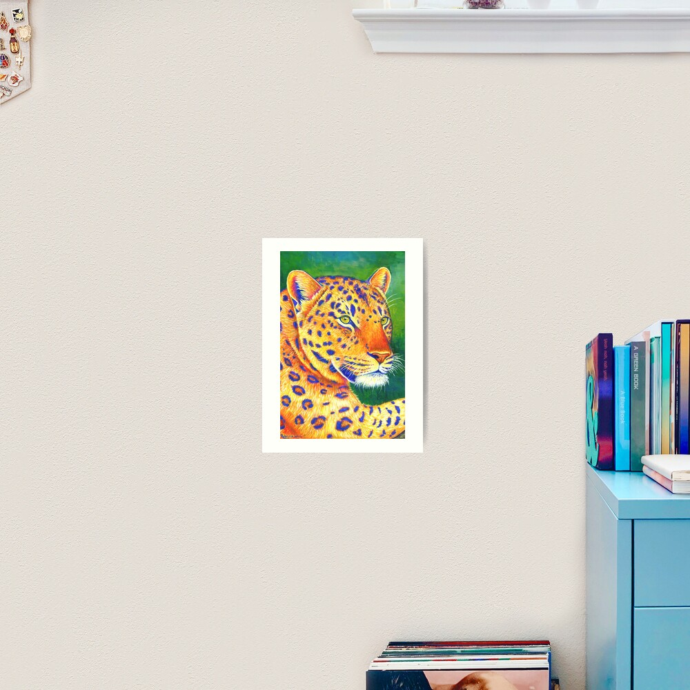 Queen of the Jungle - Colorful Leopard Art Print
