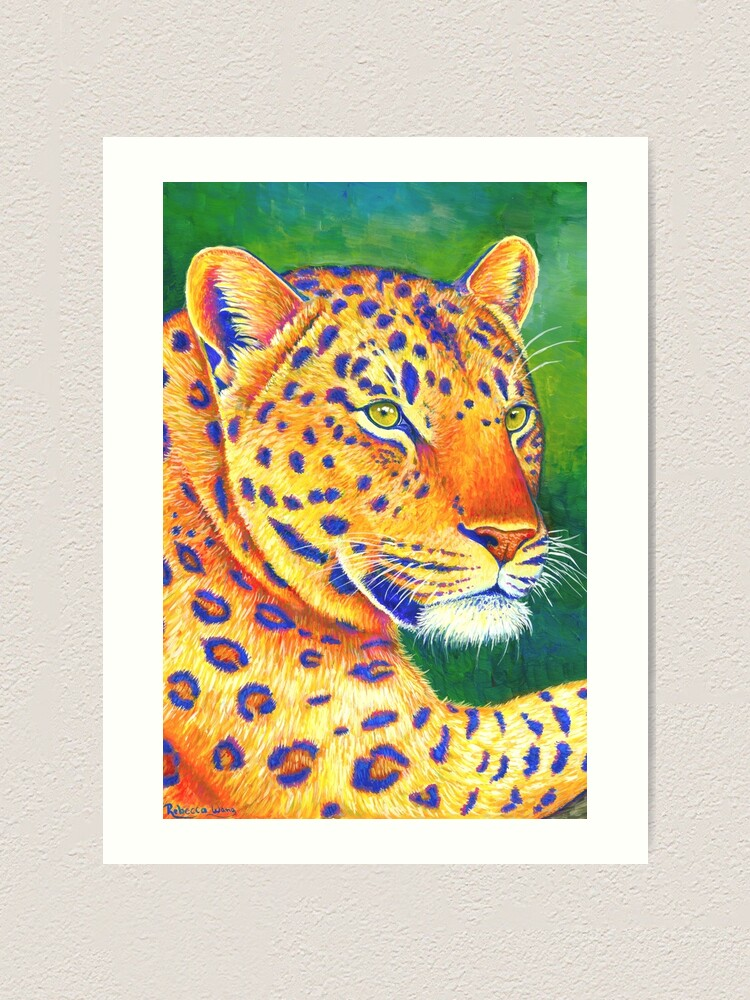 Alternate view of Queen of the Jungle - Colorful Leopard Art Print