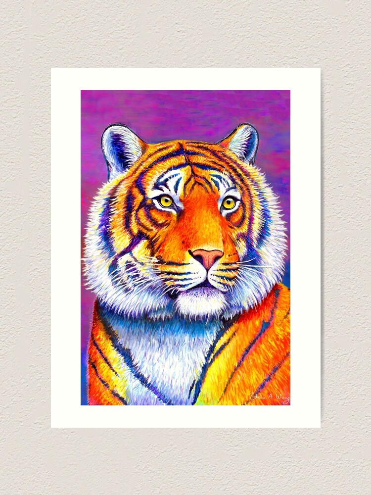 Alternate view of Fiery Beauty - Colorful Bengal Tiger Art Print