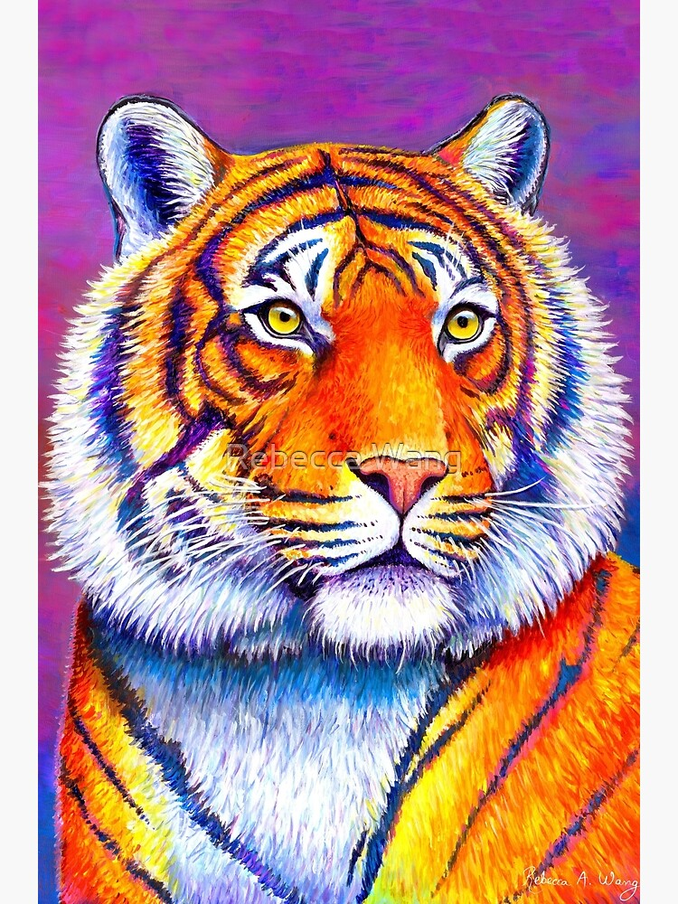 Fiery Beauty - Colorful Bengal Tiger by lioncrusher