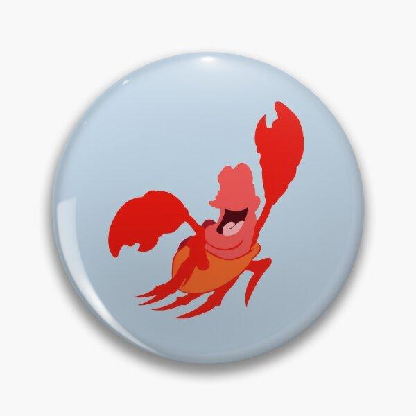 Red Crab Sea Creature Crustacean Seafood Astrological Sign Metal Enamel Badge