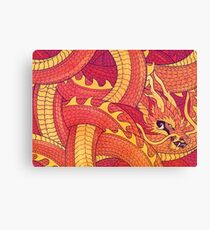 Coiled Dragon Canvas Print