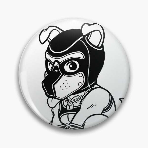 PLAYFUL PUPPY - BLACK LINEART - BEARZOO SERIES Pin