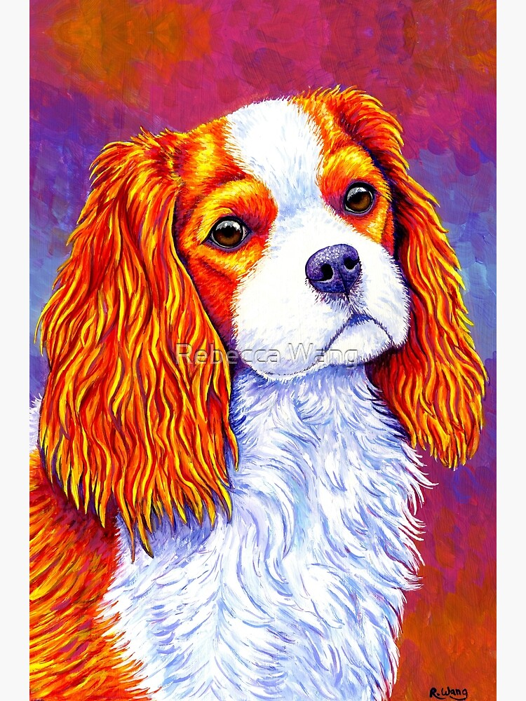 Autumn Delight - Colorful Cavalier King Charles Spaniel Dog by lioncrusher