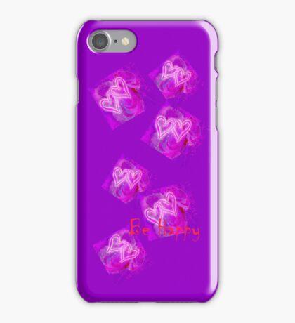 VALENTINE`S DESIGN. BE HAPPY! iPhone Case/Skin