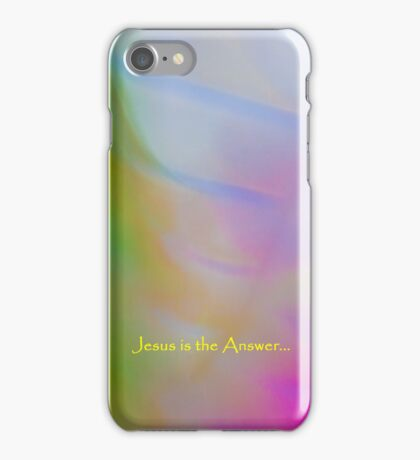 Jesus is the answer iPhone Case/Skin