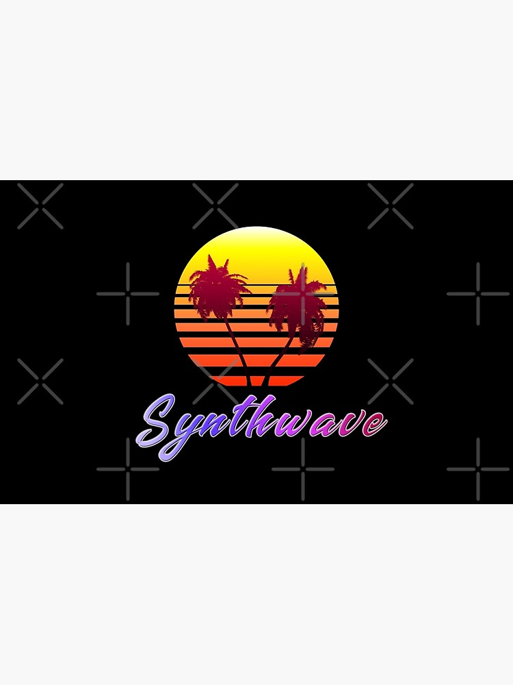 Synthwave Sun (with palm trees) by GaiaDC