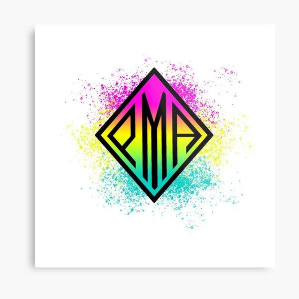 PMA Pansexual Pride Colors Metal Print