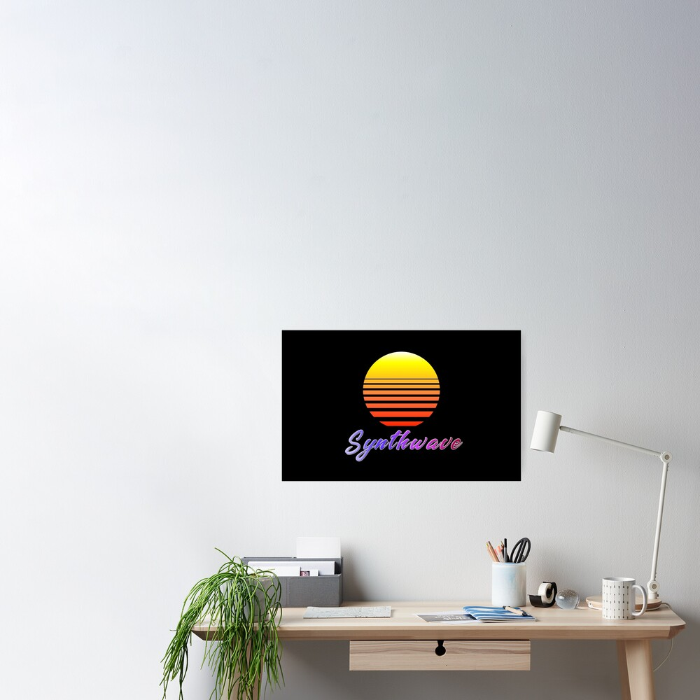Synthwave Sun Poster