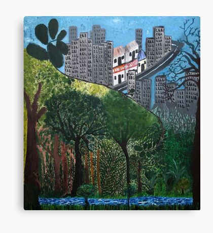 Roots of the city Canvas Print