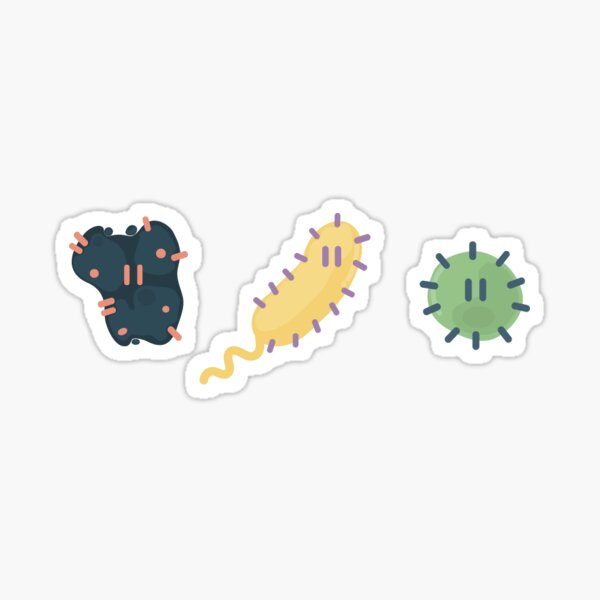 Germ Doodles Glossy Sticker