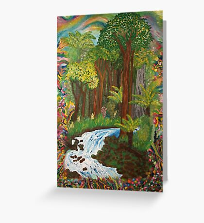 Rainforest - vivid Greeting Card