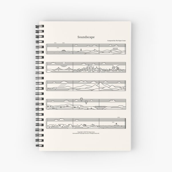 Soundscape Spiral Notebook