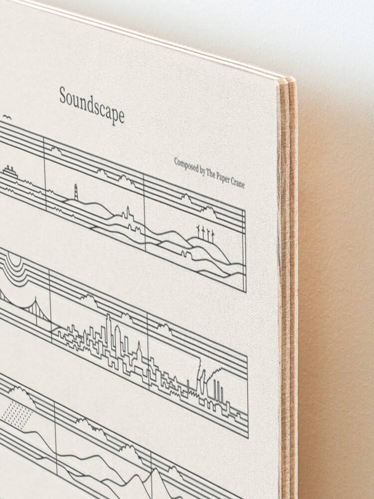 Alternate view of Soundscape Mounted Print