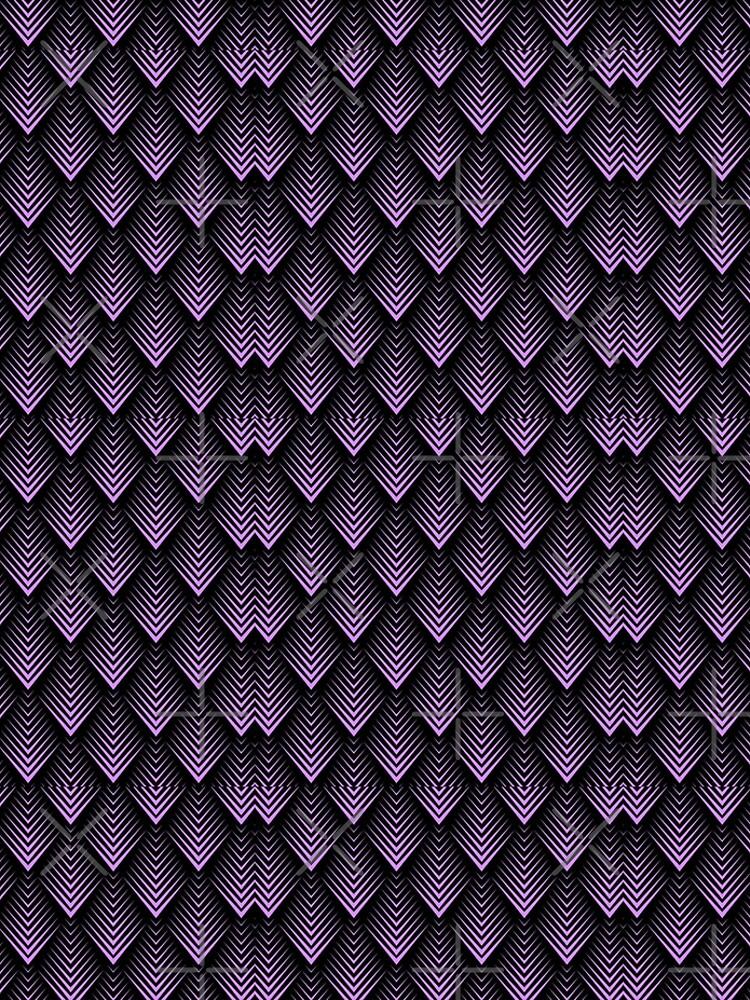 Purple and black art-deco pattern by artonwear