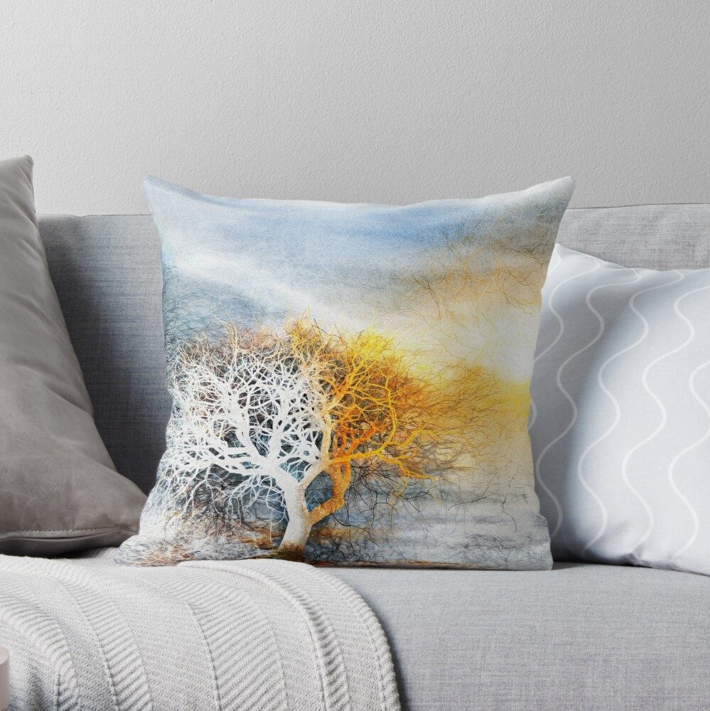 Melting Frost Throw Pillow