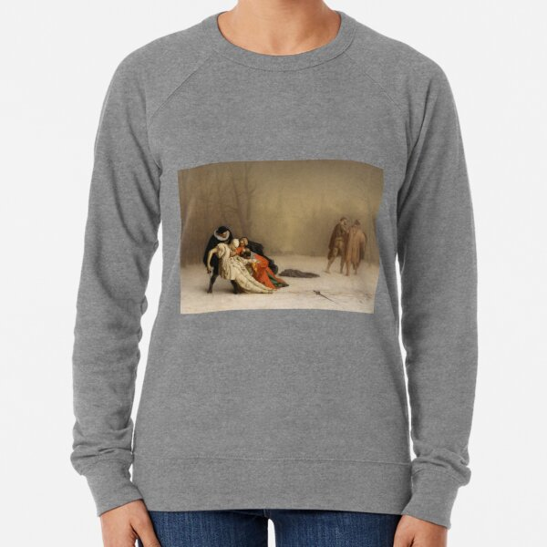 French painting Duel after the masquerade by Jean-Léon Gérôme Lightweight Sweatshirt