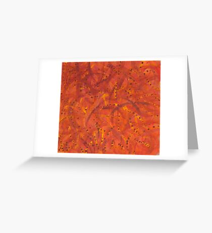 Orangeshed (triptych part b) Greeting Card