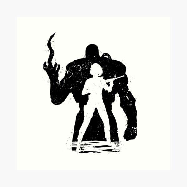 Nemesis X Jill - black Art Print