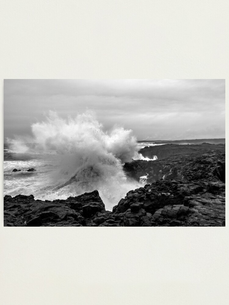 Alternate view of Big coastal storm at Reykjanes peninsula  Photographic Print