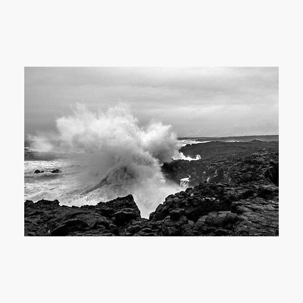 Big coastal storm at Reykjanes peninsula  Photographic Print