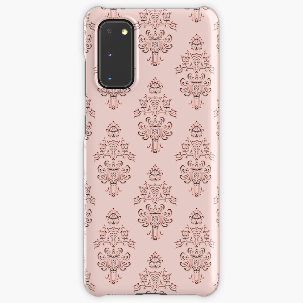 Rose Gold Haunted Mansion Wallpaper Carving Case Skin For Samsung Galaxy By Fandomtrading Redbubble