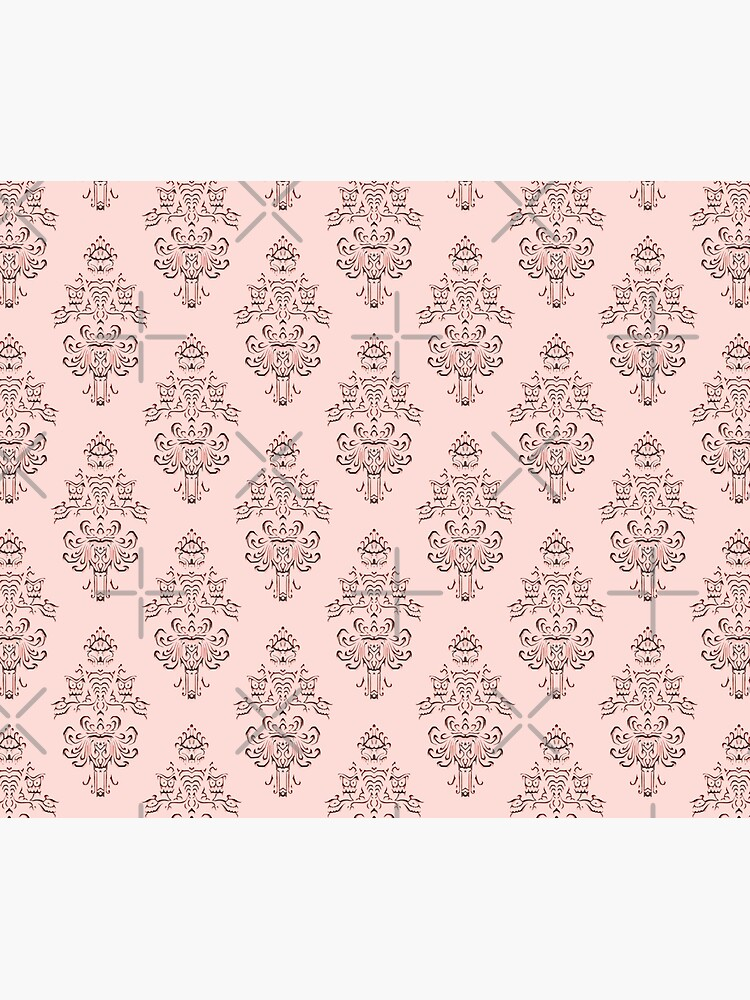 Rose Gold Haunted Mansion Wallpaper Carving by FandomTrading