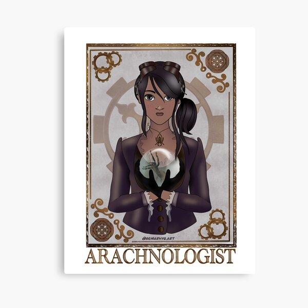 The Arachnologist (Steampunk art) Canvas Print
